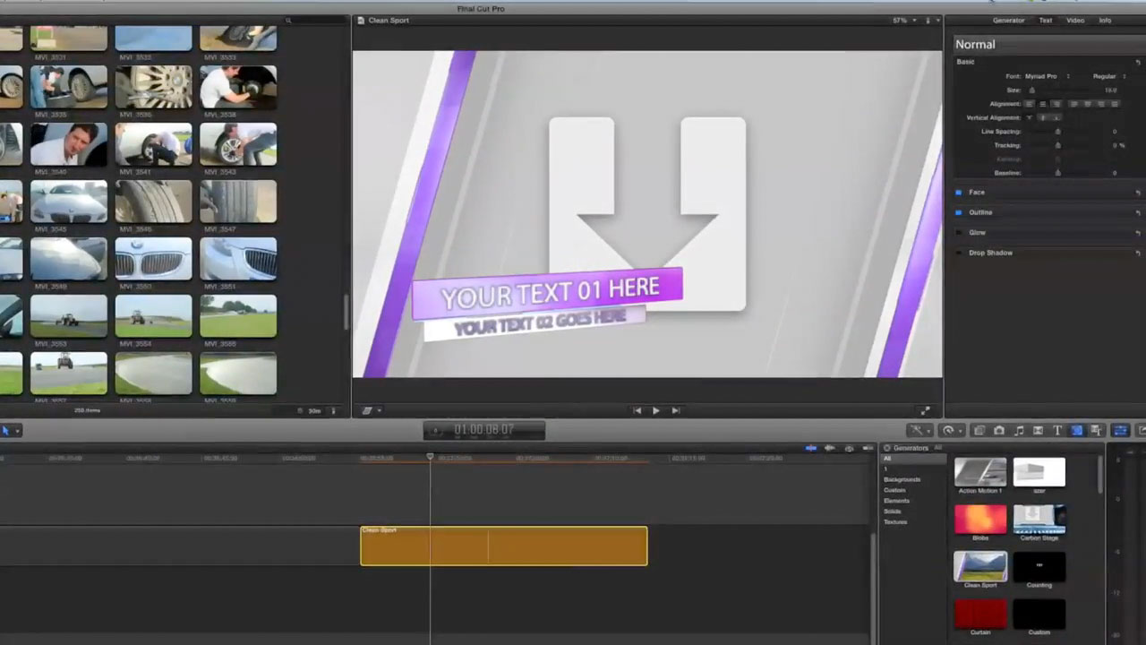 Apple Motion Technique: Exporting template to FCPX